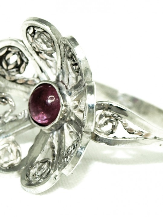 Ring Noors Robijntje - Natuurlijk Zilver